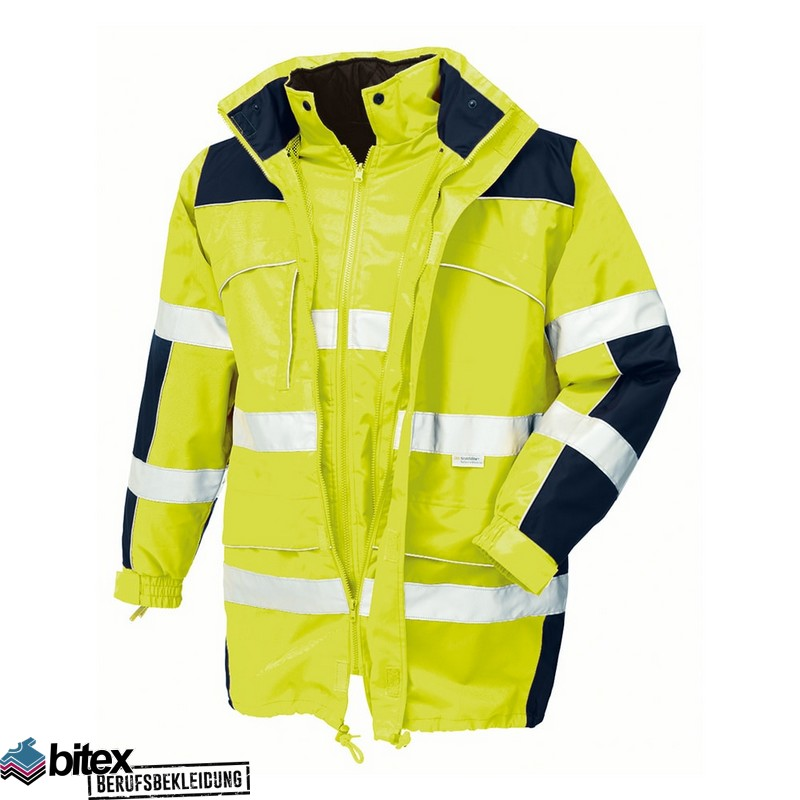 Funsport Bekleidung & Schutzausrüstung Warnschutzparka gelb-blau Gr L
